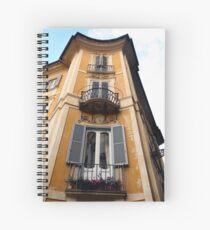 Yellow Building Spiral Notebook