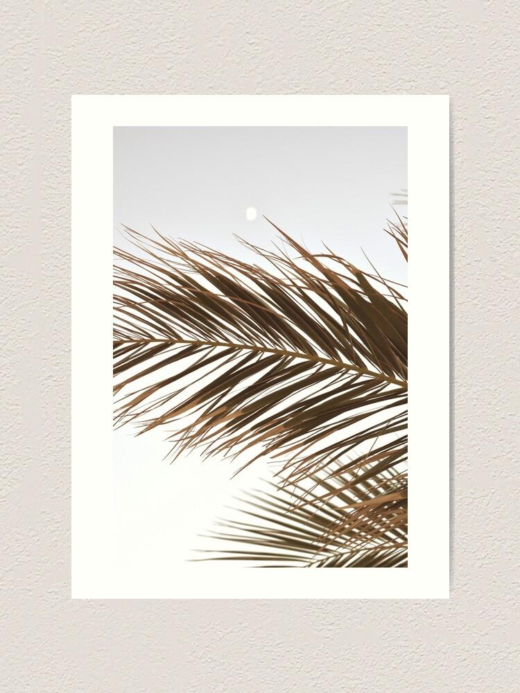 Alternate view of Palm Tree Leaves in Beige Art Print