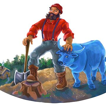 Paul Bunyan and Babe the Blue Ox by ImagineThatNYC