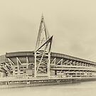Principality Stadium North View Vintage  by Steve Purnell