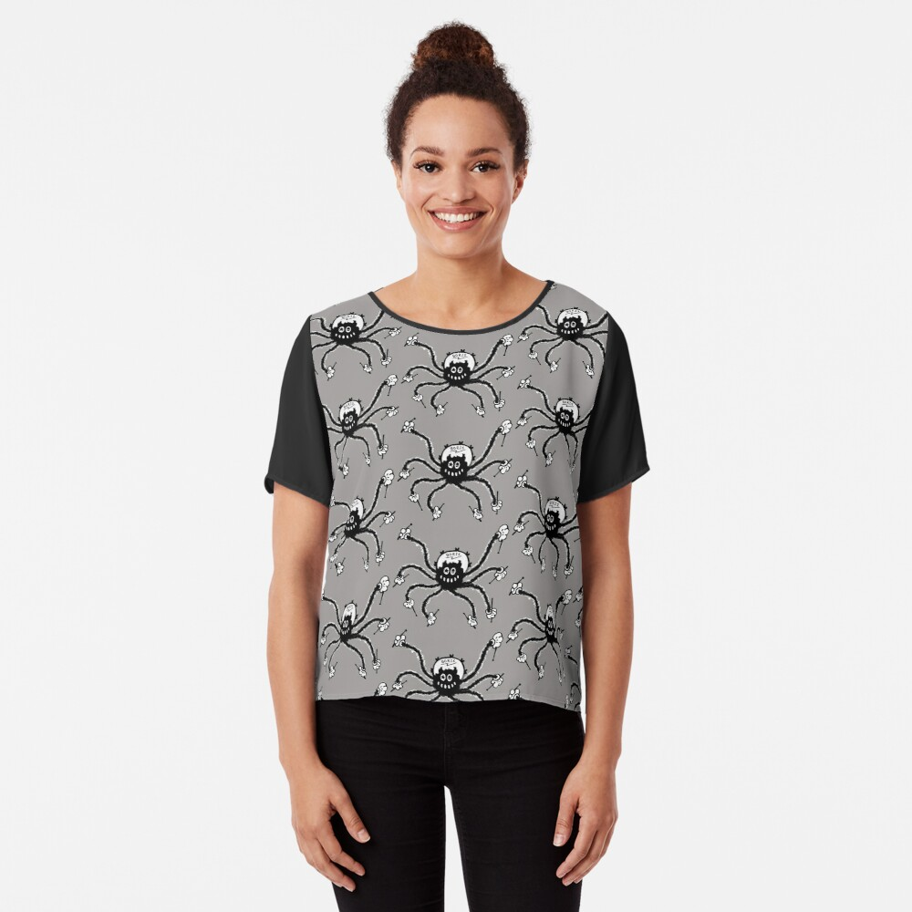 Boris The Spider Drums Women's Chiffon Top Front