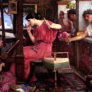 Penelope and her Suitors - John WIlliam Waterhouse by forgottenbeauty