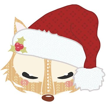 52 Fox head with santa hat - Womens Premium T-S by teerich