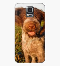 Brown Roan Italian Spinone Puppy Dog In Action Case/Skin for Samsung Galaxy