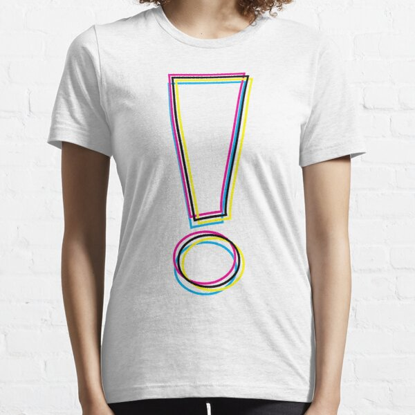 CMYK Graphic Exclamation Point Outlines Essential T-Shirt