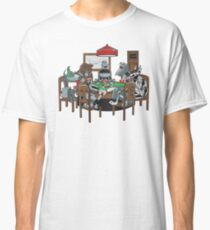 Robot Dogs Playing Poker Classic T-Shirt