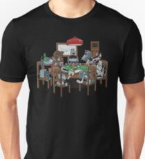 Robot Dogs Playing Poker Slim Fit T-Shirt