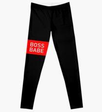 Boss Babe - Rot Weiß Leggings