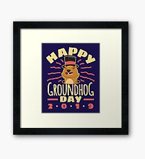 Happy Groundhog Day 2019 Framed Print