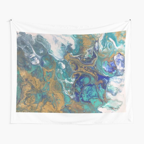 Acrylic Pour Art Tapestry