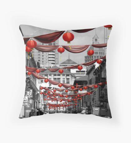 Chinatown, Singapore Throw Pillow