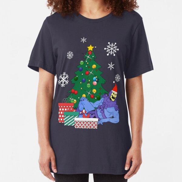 Skeletor Around The Christmas Tree Slim Fit T-Shirt