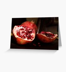 Pommegranate Still life Greeting Card