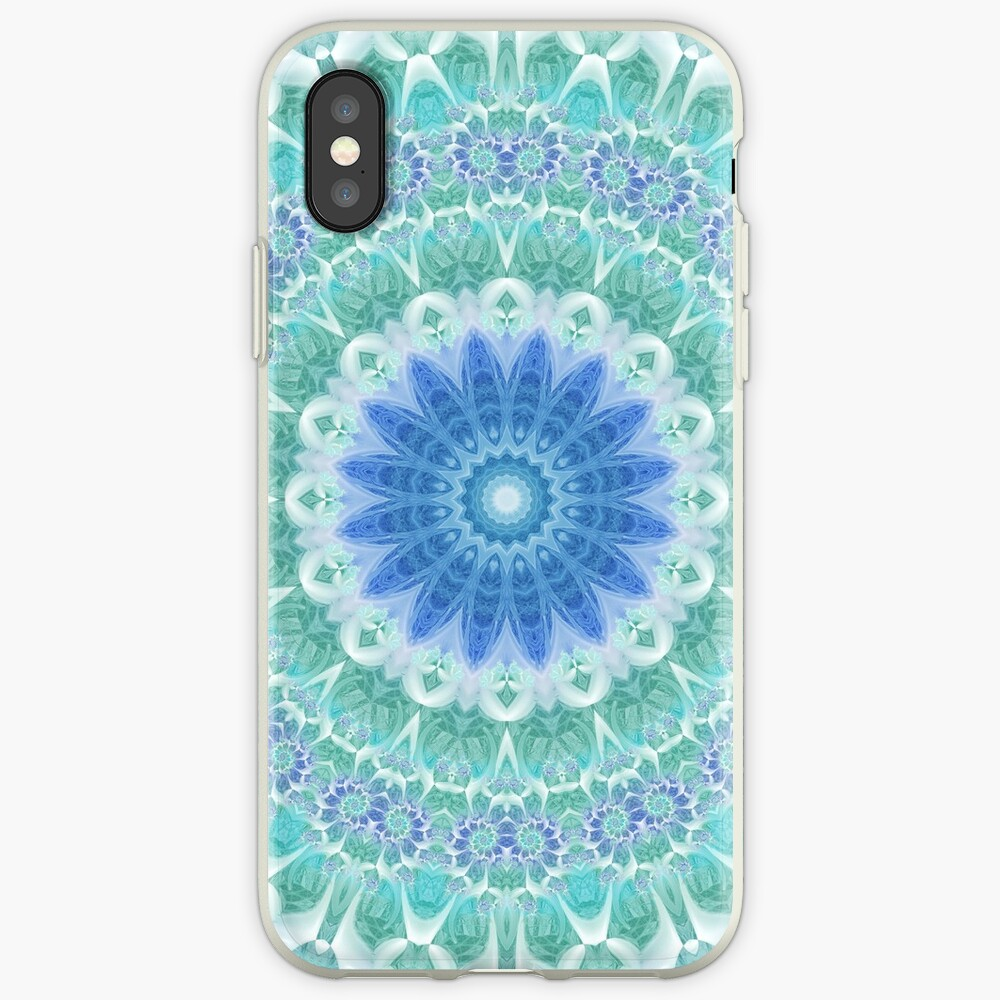 Blue and Turquoise Mandala iPhone Cases & Covers