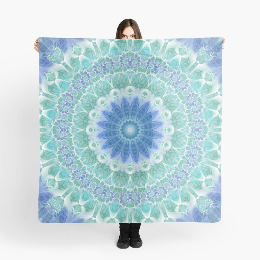 Blue and Turquoise Mandala Scarf