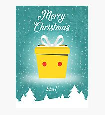 Christmas Card - Pikachu Photographic Print