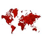 Red World Map Artwork by Map-Your-World