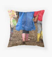 Glastonbury - Mud and Colour Throw Pillow
