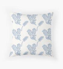 Sweet blue and white chintz like bottlebrush pattern Floor Pillow