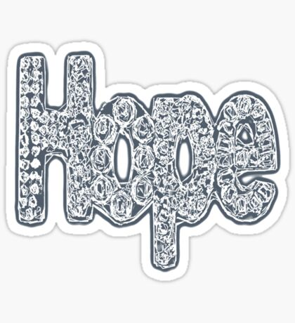 """Hope floats 1"" Sticker"