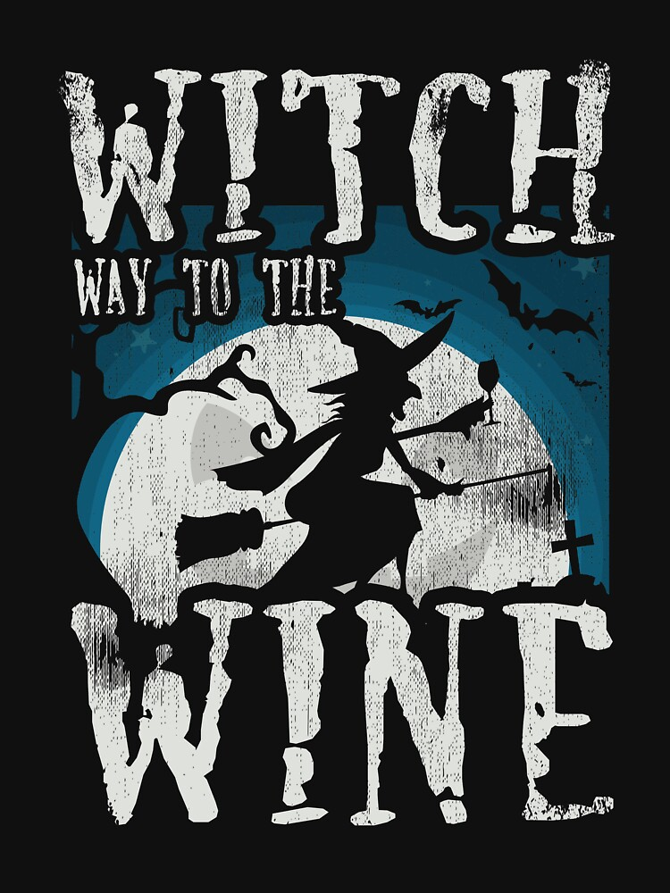 Witch Way To The Wine Halloween Costume Drinking by kieranight