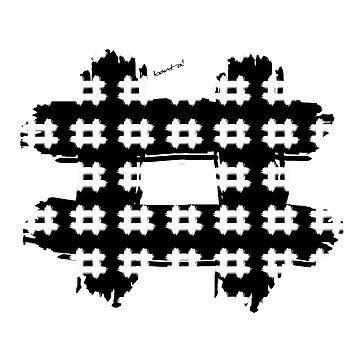 Black & White Hashtags by Banta