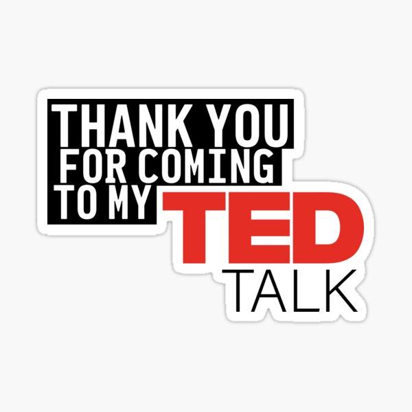 Ted Talk Sticker