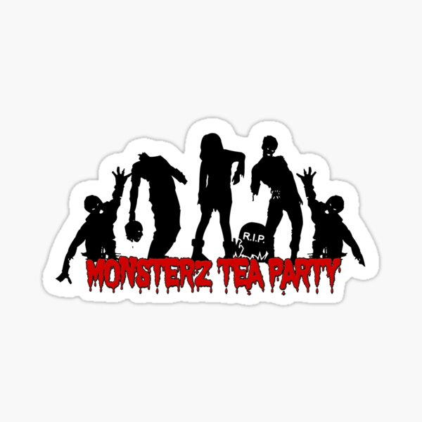 Monsterz Tea Party by Nhell - Zombies  Sticker