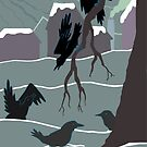 American Crows by dstrctdntrlst
