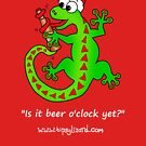 Is it beer o'clock yet? Christmas edition - white writing by TipsyLizard