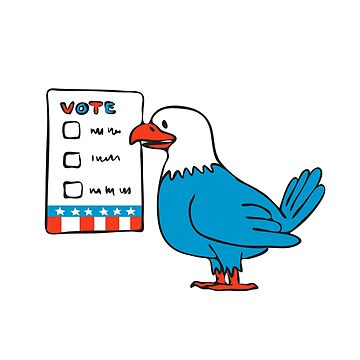 American Eagle Voting Election Ballot Drawing by patrimonio