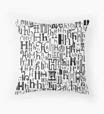 The Letter H Throw Pillow
