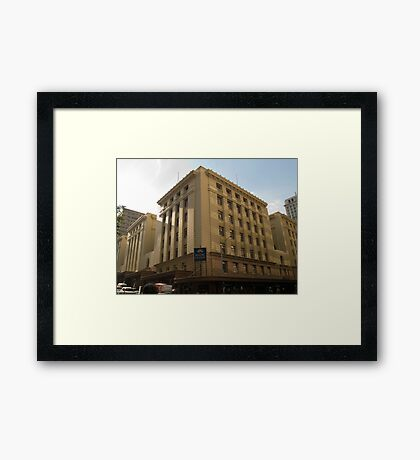 Anzac Square Building - Edward St.  Framed Print