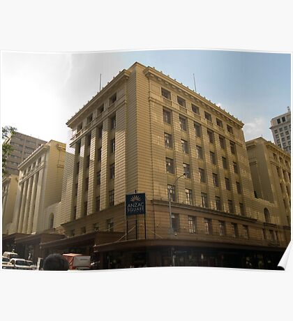 Anzac Square Building - Edward St.  Poster