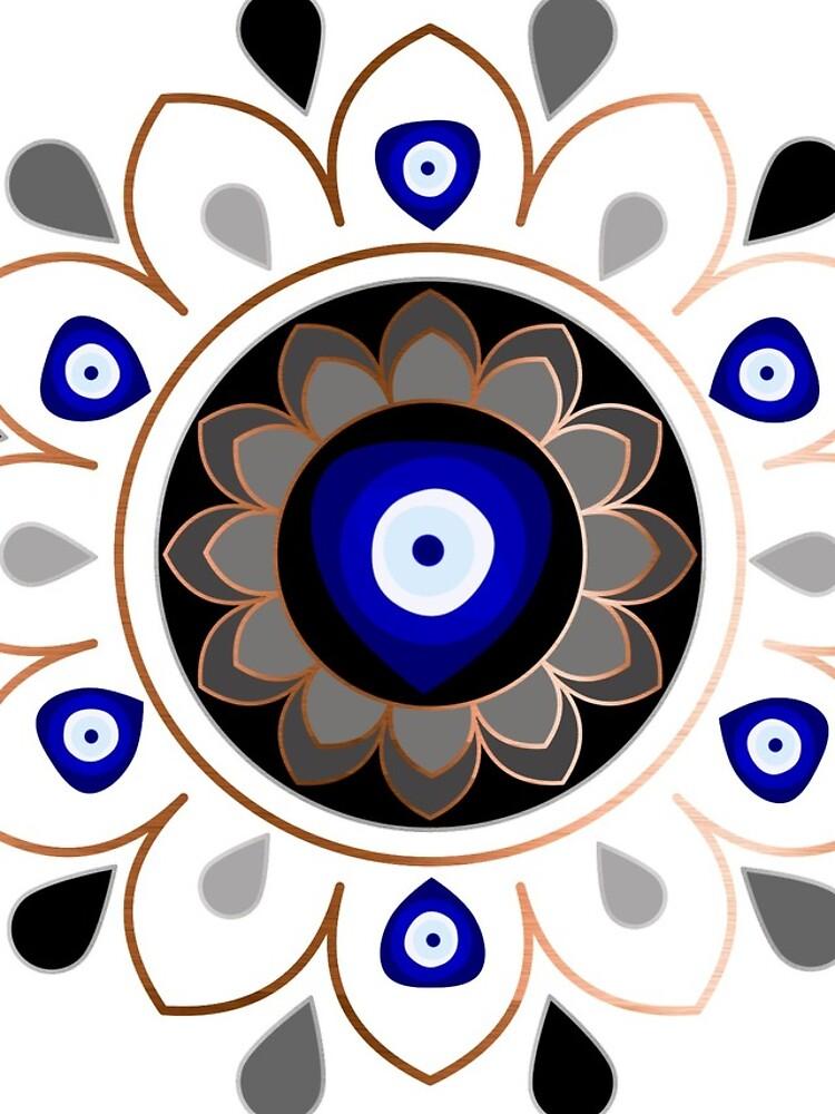 Copper Evil Eye Mandala by umeimages