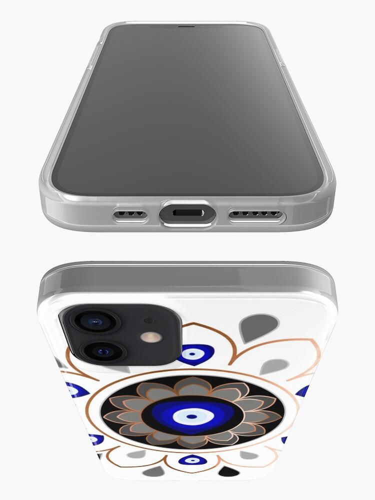 Alternate view of Copper Evil Eye Mandala iPhone Case & Cover