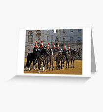 Blues and Royals at Horseguards Greeting Card