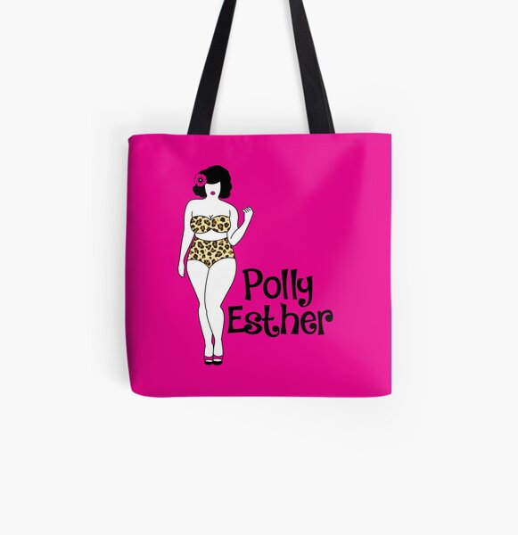 Illustrated Logo All Over Print Tote Bag