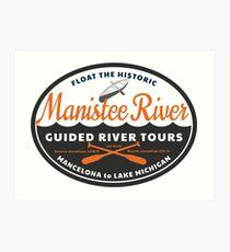 Manistee River Michigan  Art Print