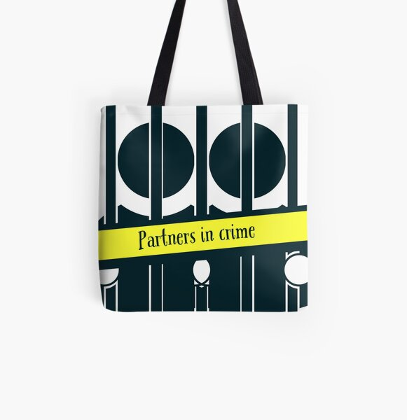 Partners in Crime  All Over Print Tote Bag