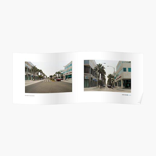 Wilshire Boulevard + 9th Street, Santa Monica, California, USA...narrowed. Poster