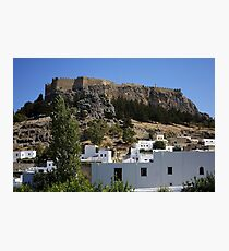 The Acropolis at Lindos Photographic Print