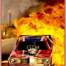 DRAG RACE BURN-OUT : Vintage Funny Car Advertising Print by posterbobs