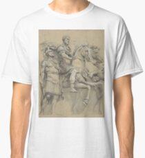 Vintage Marcus Aurelius on Horseback Illustration Classic T-Shirt