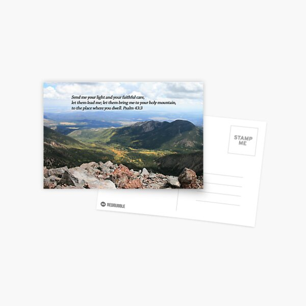Summit Story Horizontal Card with Psalm - From ccnow.info Postcard