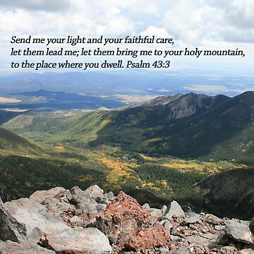 Celebrating Christ Summit Story Horizontal Card with Psalm by sdawsoncc