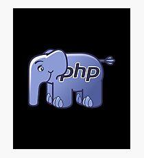 PHP ElePHPant Logo (Black background) Photographic Print