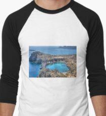 St Paul's Bay, Lindos Men's Baseball ¾ T-Shirt