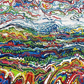 Abstrait paysage by nataliakuruch