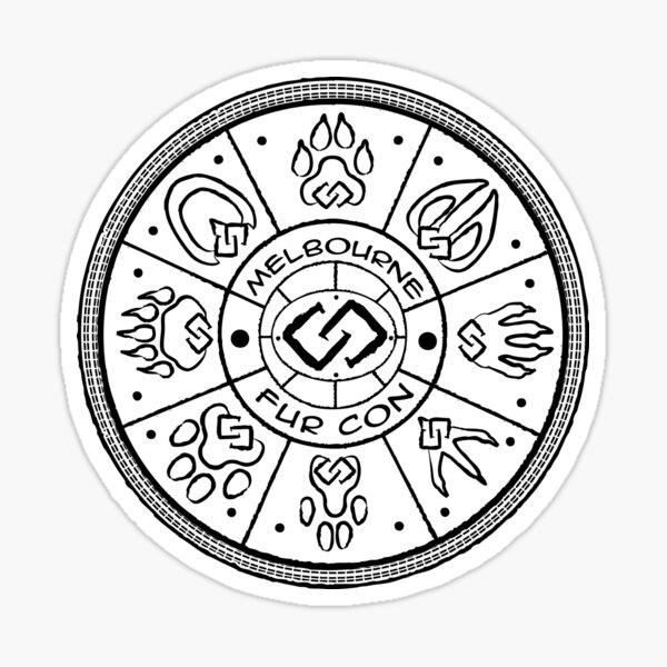 Unity Paw Circle Sticker